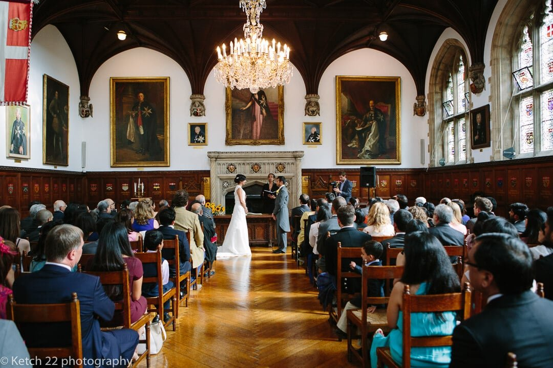 View of wedding ceremony at the Museum of the order of St John
