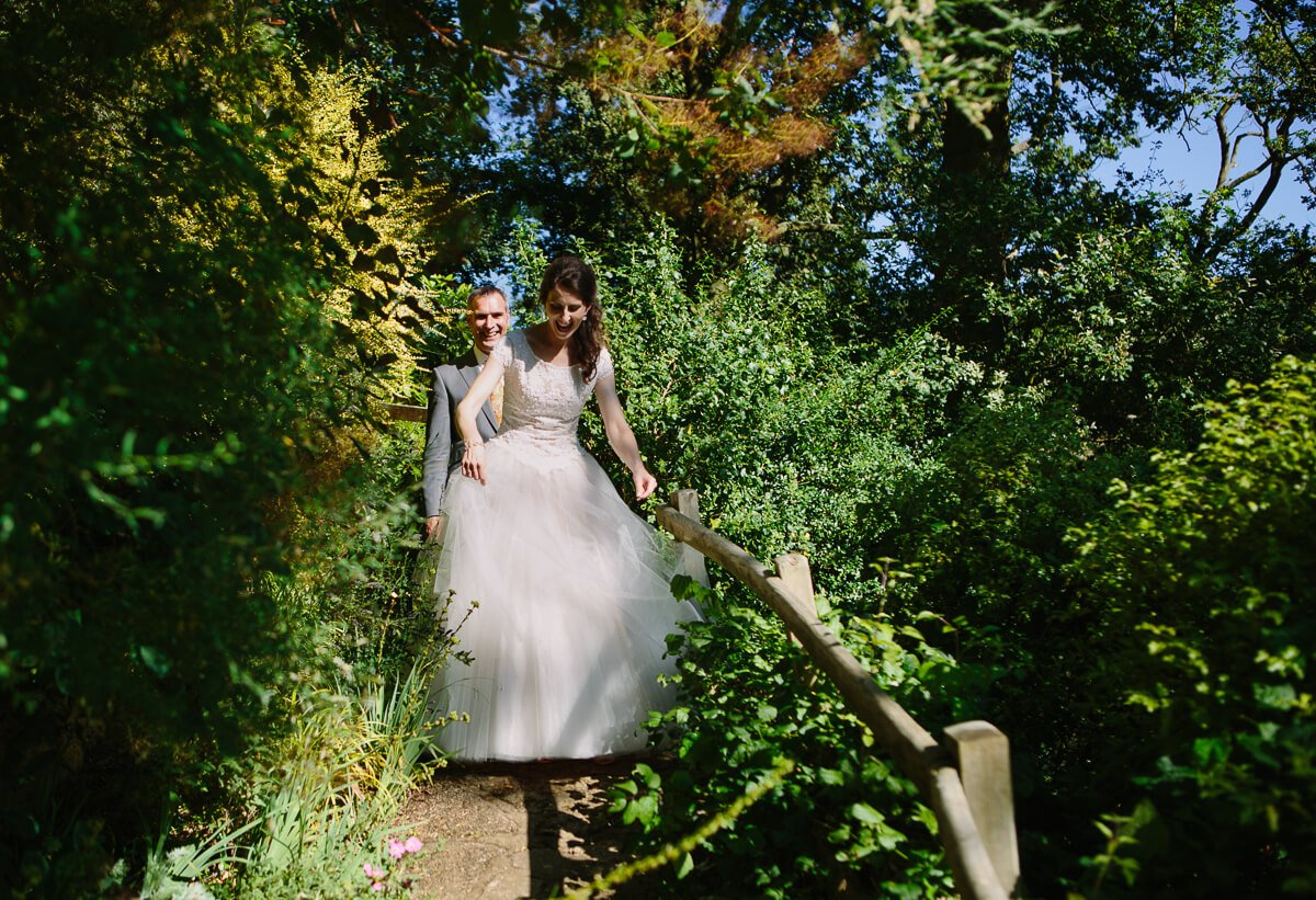 Bride and groom at Weddings at Kiftsgate Court Gardens