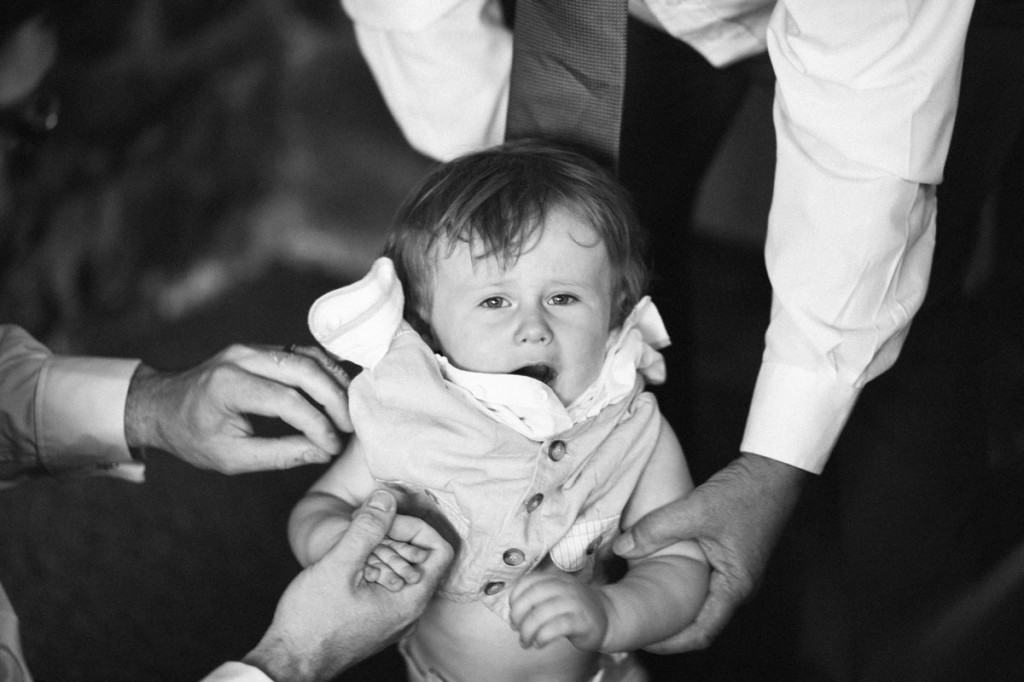 boy been dressed by parents at wedding in Shropshire