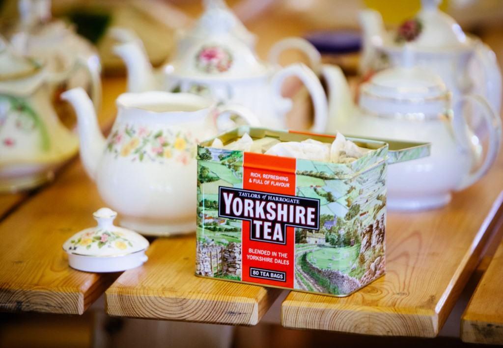Vintage tea party at Shropshire wedding
