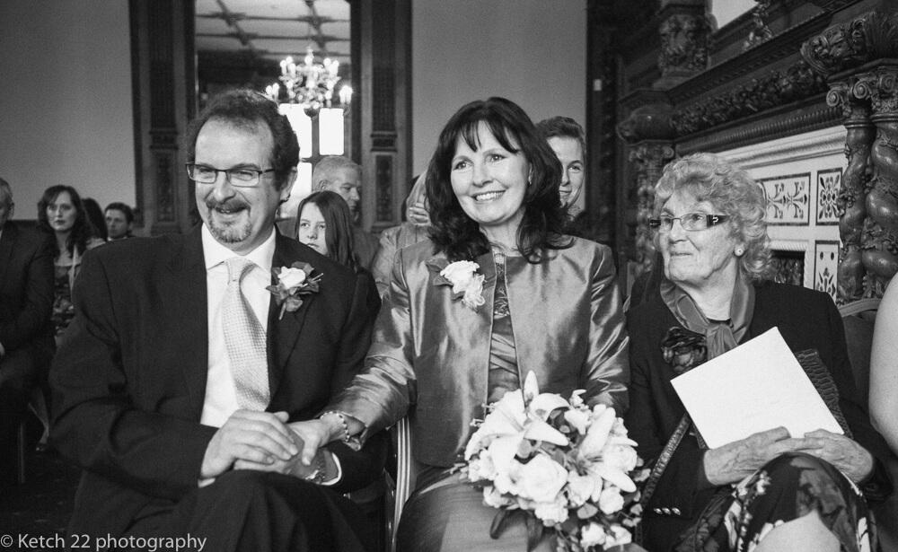 Mum ,Dad and Grandma at Manor by the lake wedding Cheltenham
