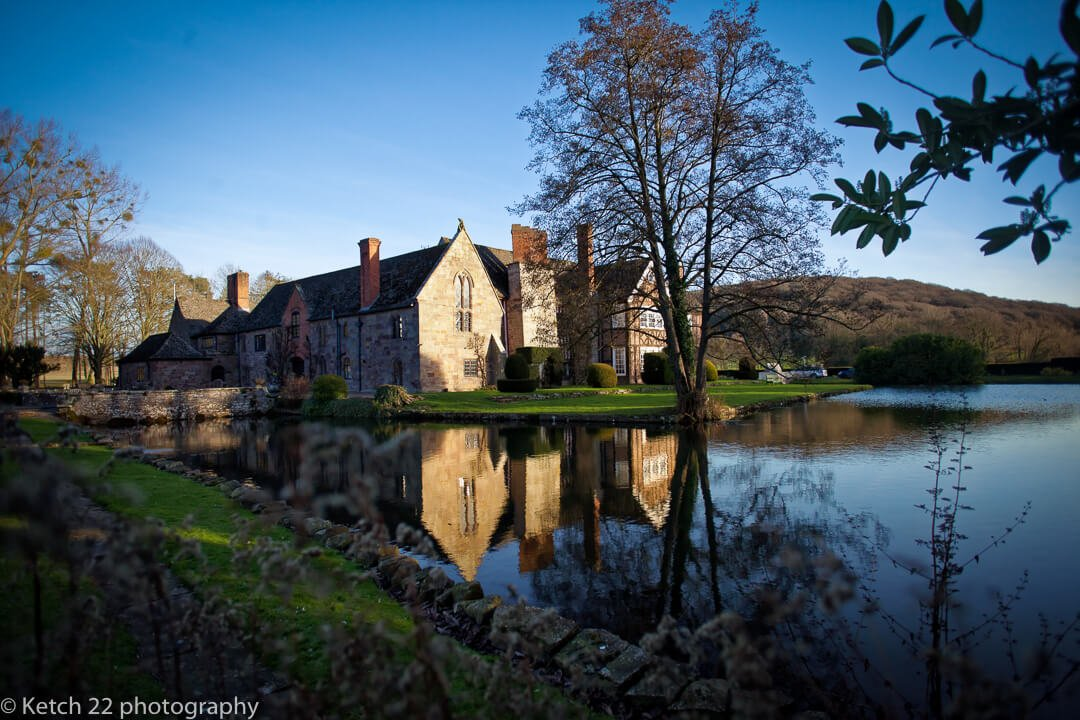 Exterior view of Brinsop Court wedding venue in Herefordshire