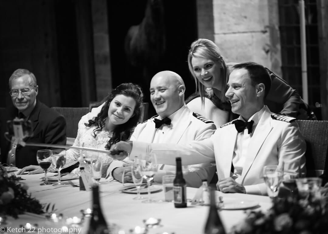 Wedding guests doing a selfie