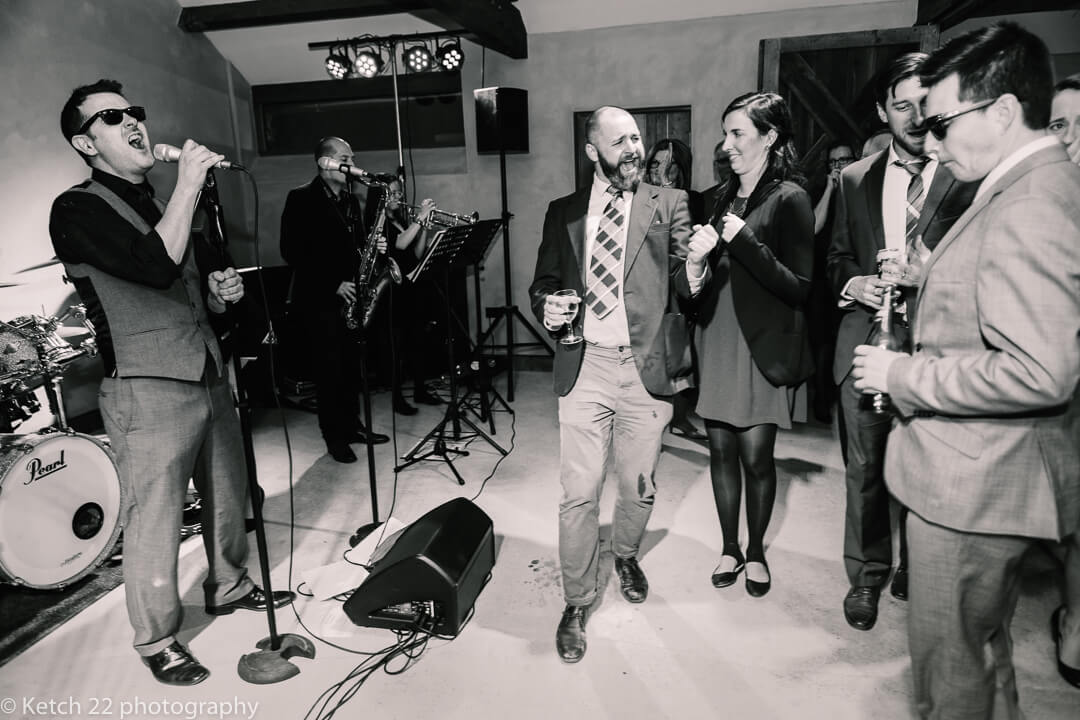 Quirky dancing at Dewsall Court Wedding in Herefordshire
