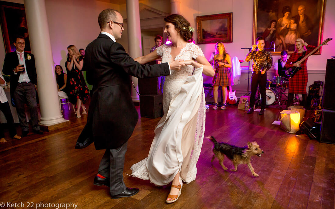 First dance with bride and groom and dog