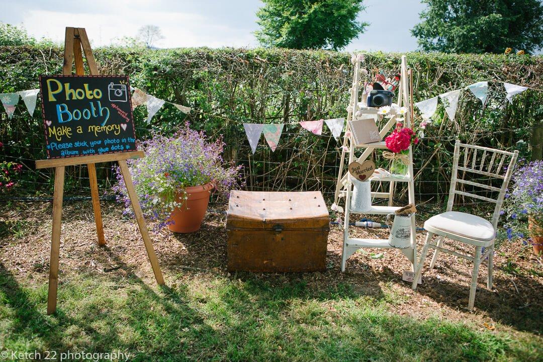Wedding details at rural, vintage Yurt wedding