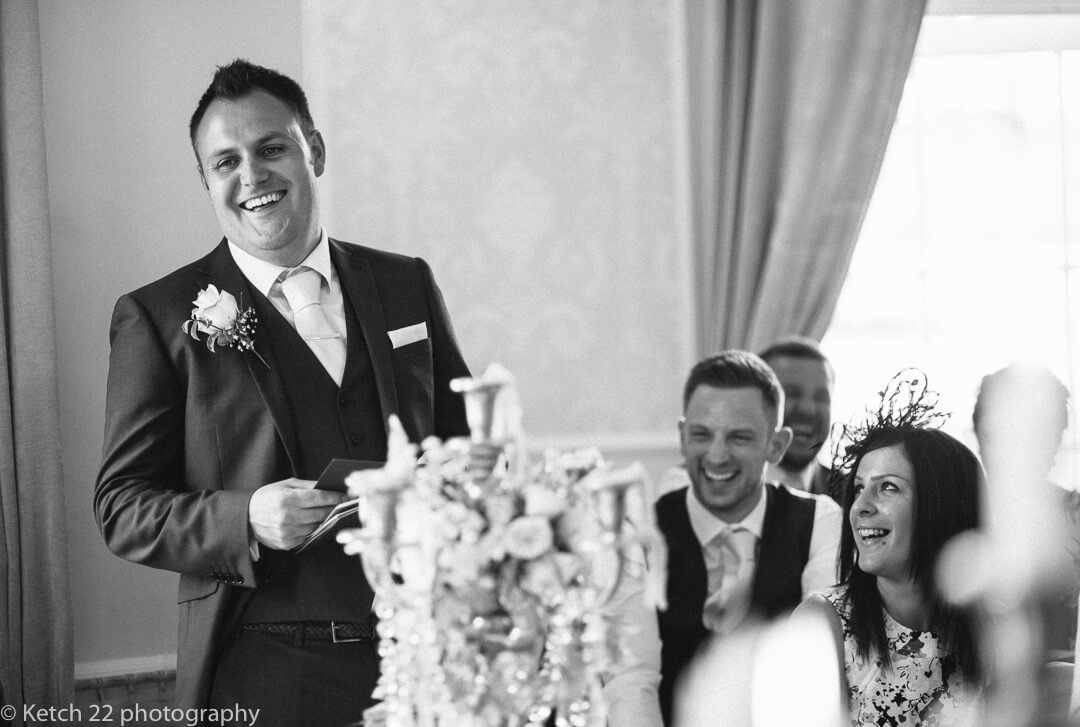best man making speech at Country house wedding