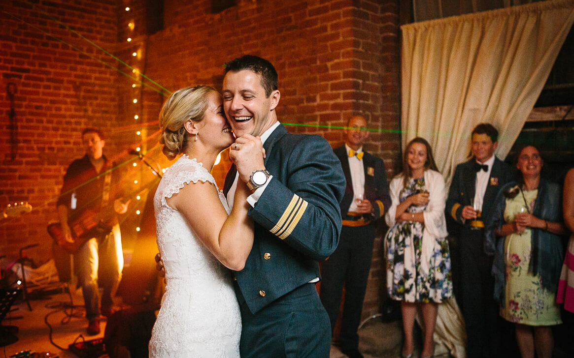First dance with bride and groom at Gloucestershire wedding