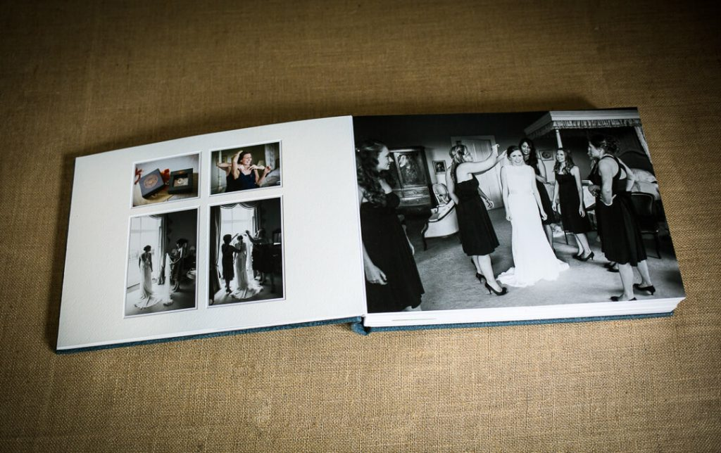 Handcrafted wedding album by Gloucestershire photographer Ketch 22 photography