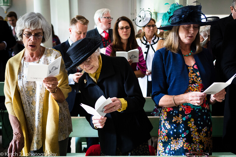 Granny at Dorset Summer wedding ceremony