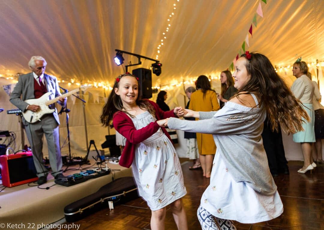Kids dancing at Hilles House wedding recepetion