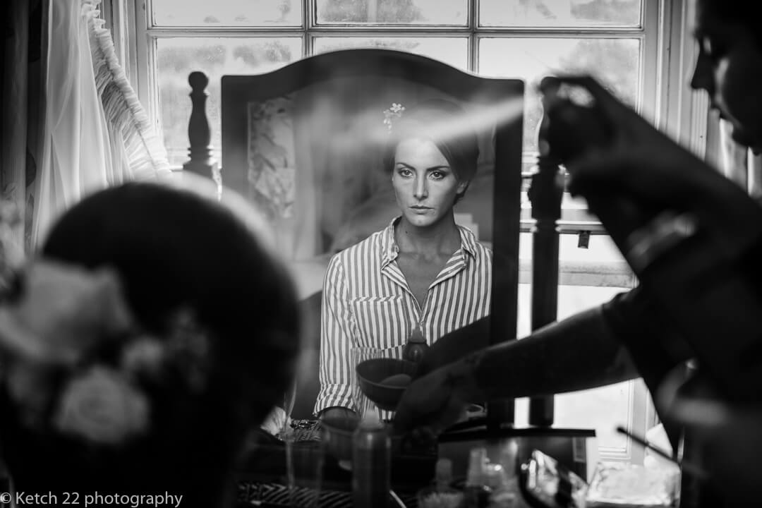 Story telling wedding photography with bride getting ready