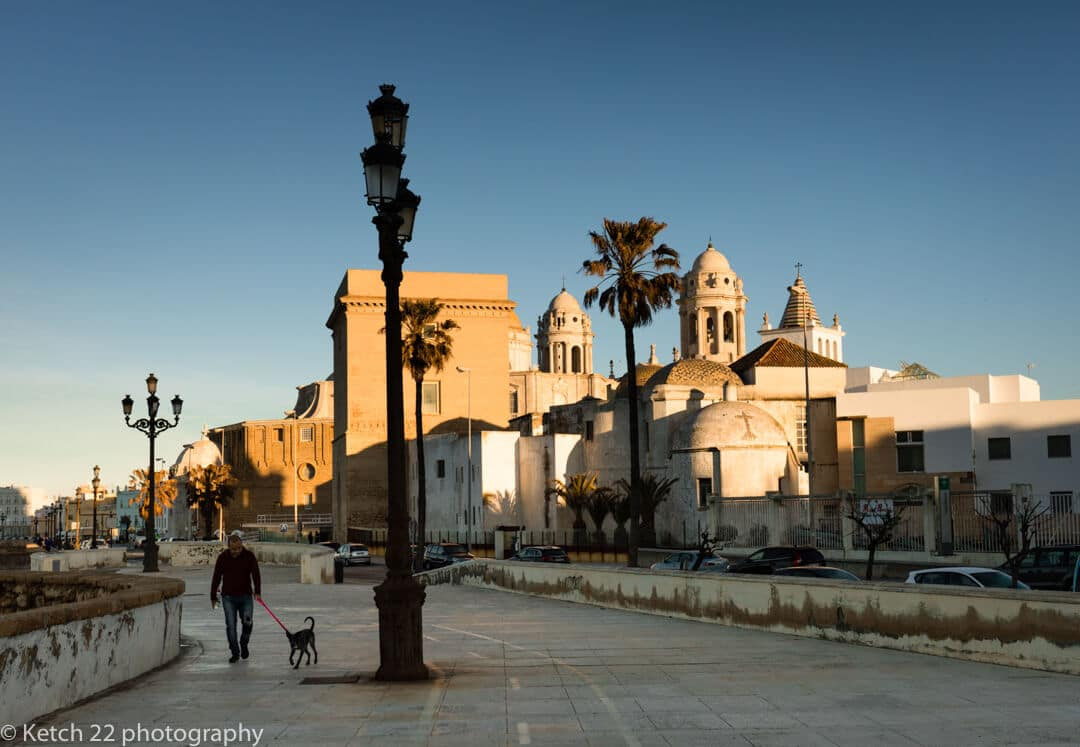 Early morning view over the Old town in Cadiz