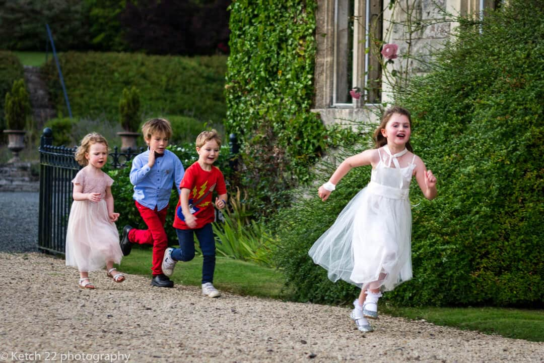Kids playing at wedding