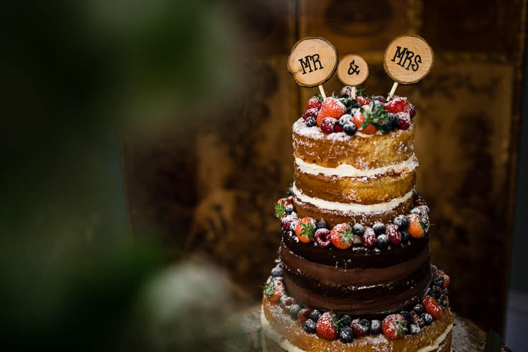 Wedding cake at Homme House