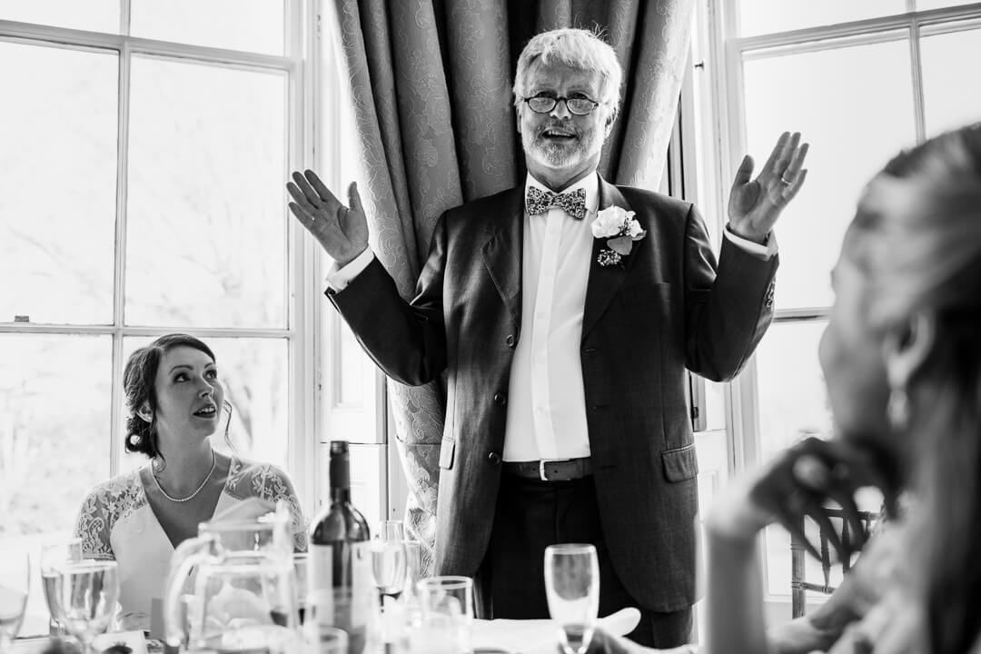 Father of bride making speech at Homme House wedding