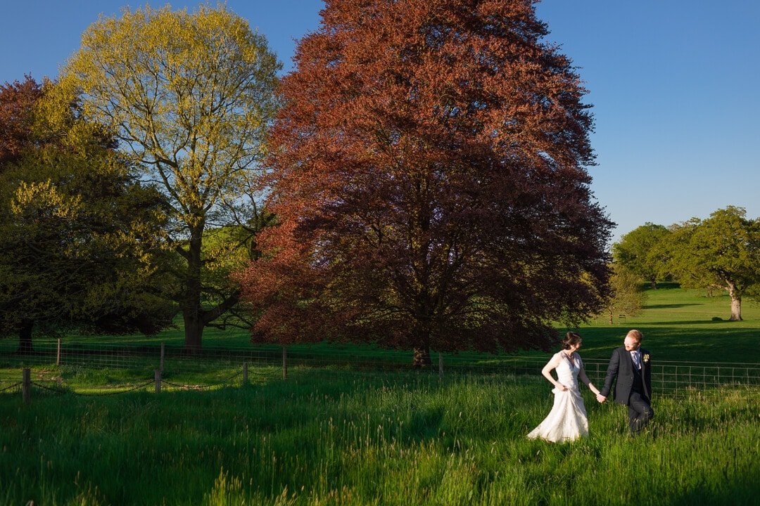 Creative portrait of bride and groom at Homme House wedding