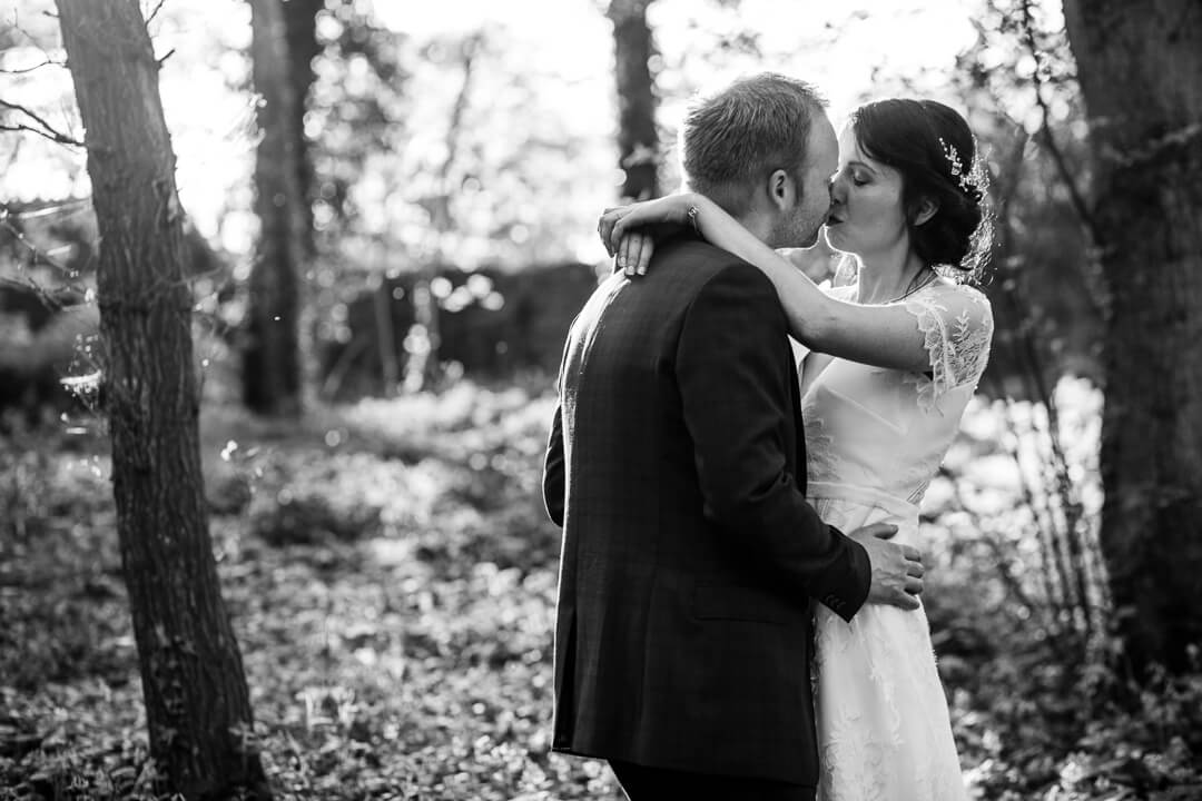 Black and white creative portrait at Homme House wedding
