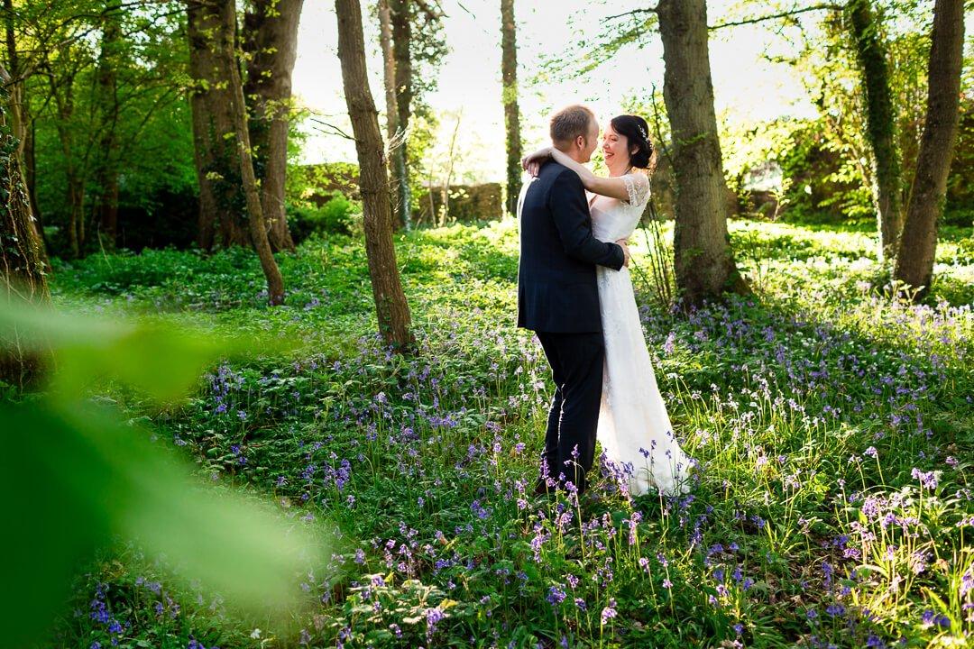 Creative portrait at Herefordshire wedding