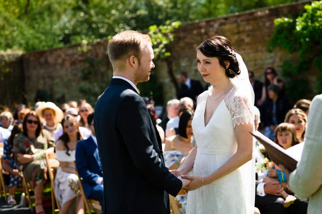 Open air wedding ceremony at Homme House