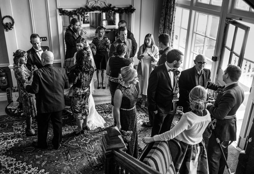 Guests chatting at The lake Country House Hotel