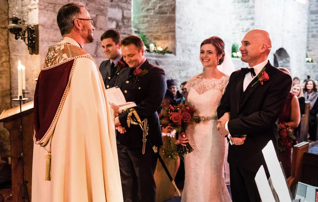 Welsh wedding ceremony in church