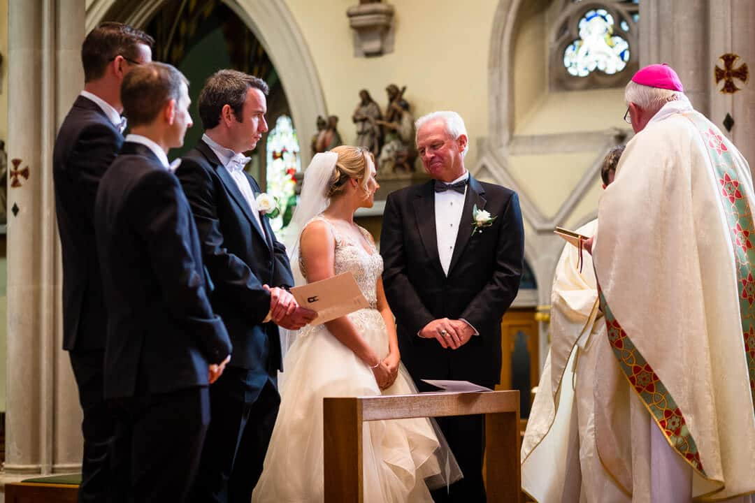 wedding ceremony in Portsmouth Cathedral