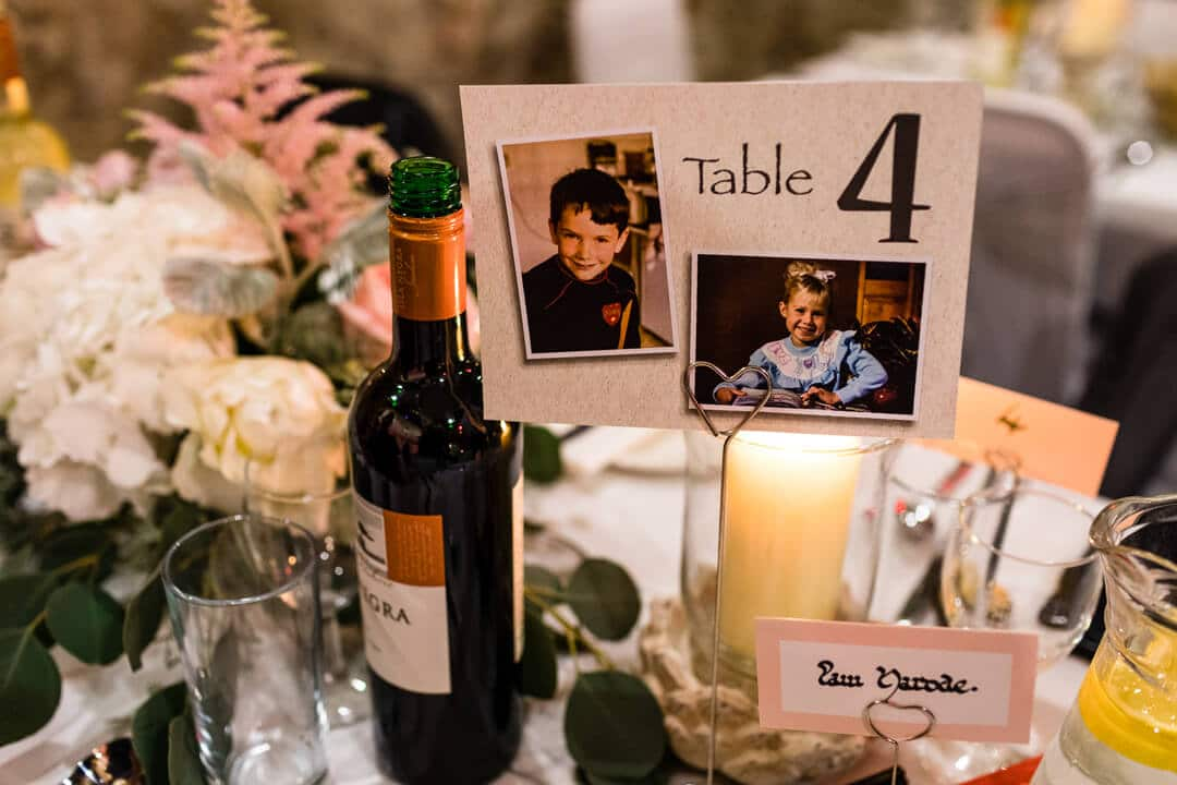 Detail photo of table settings at Portsmouth wedding