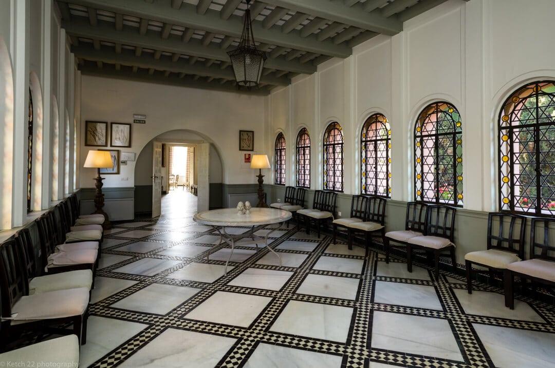 Large moorish Hall at Castillo de Santa Catalina