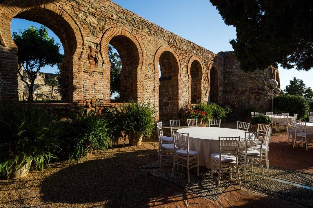 Moorish arch's at Castillo de Santa Catalina