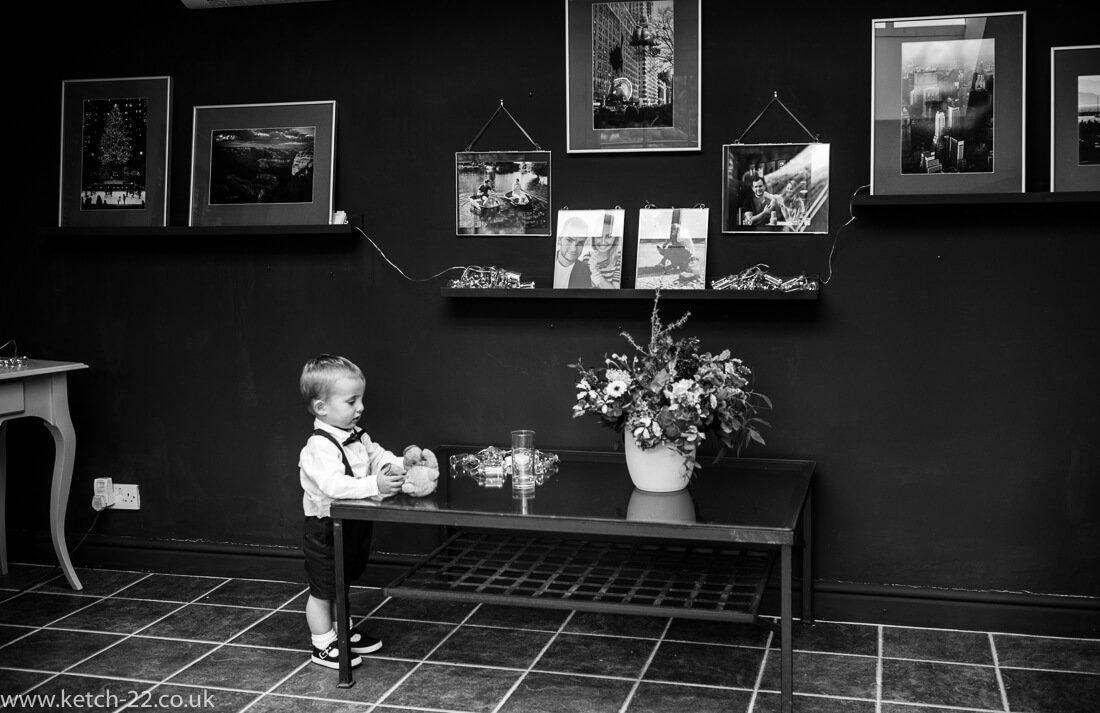 Portrait of page boy - Winchcombe wedding photographer