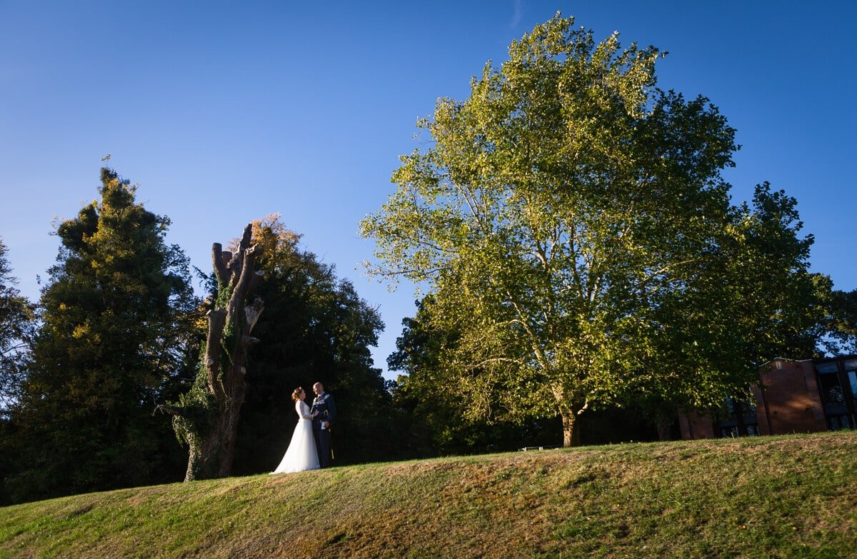 Portrait of Bride and groom at De Vere Latimer Estate wedding