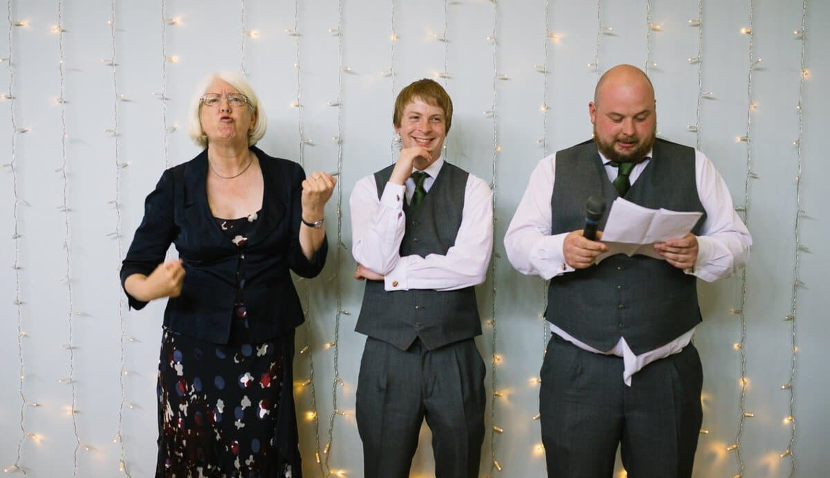 Best men making wedding speech