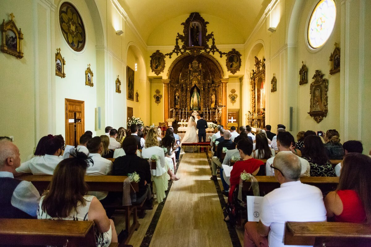 Beautiful church interior at Wedding in Malaga spain