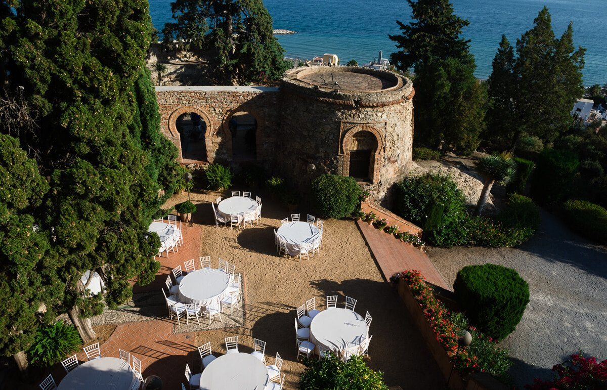 Castillo de santa catalina wedding venue Spain