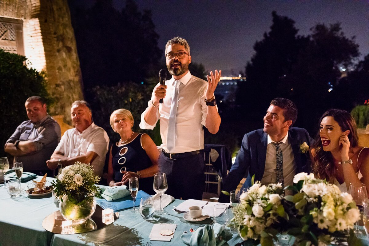 Best man making speech at Malaga Wedding